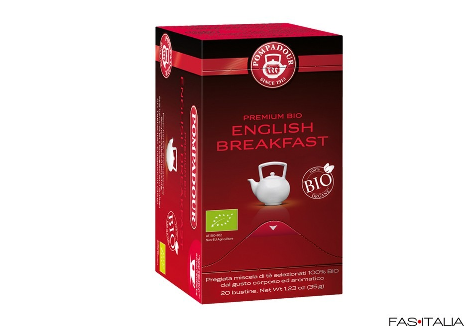 Thè Premium English Breakfast 20 filtri in bustina